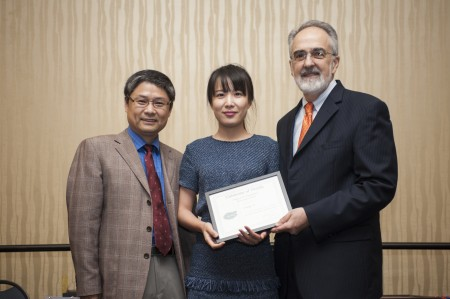 Dr. Qiu, Changyi Li and Dean Perri - MS Award